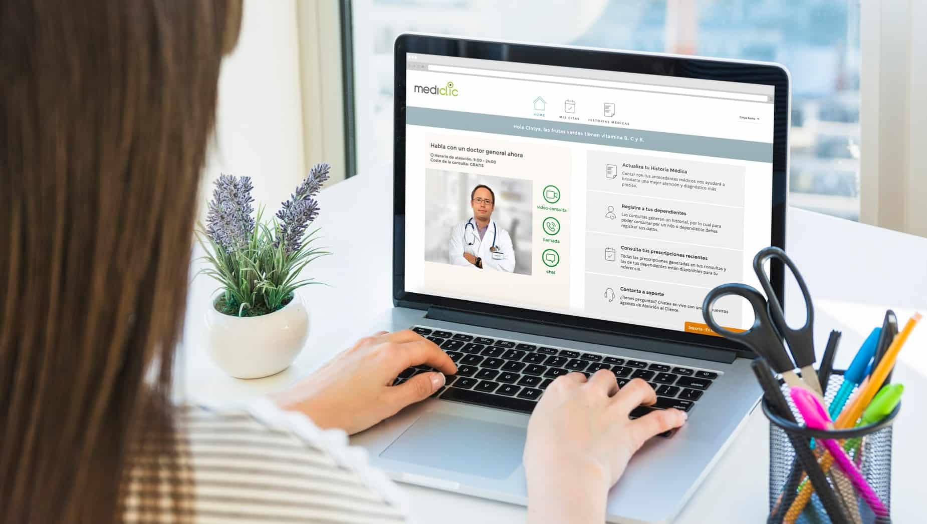 Cómo es la plataforma de Telemedicina de Mediclic